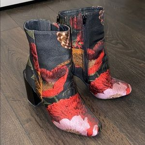 Jeffree Campbell Floral Heeled Boots